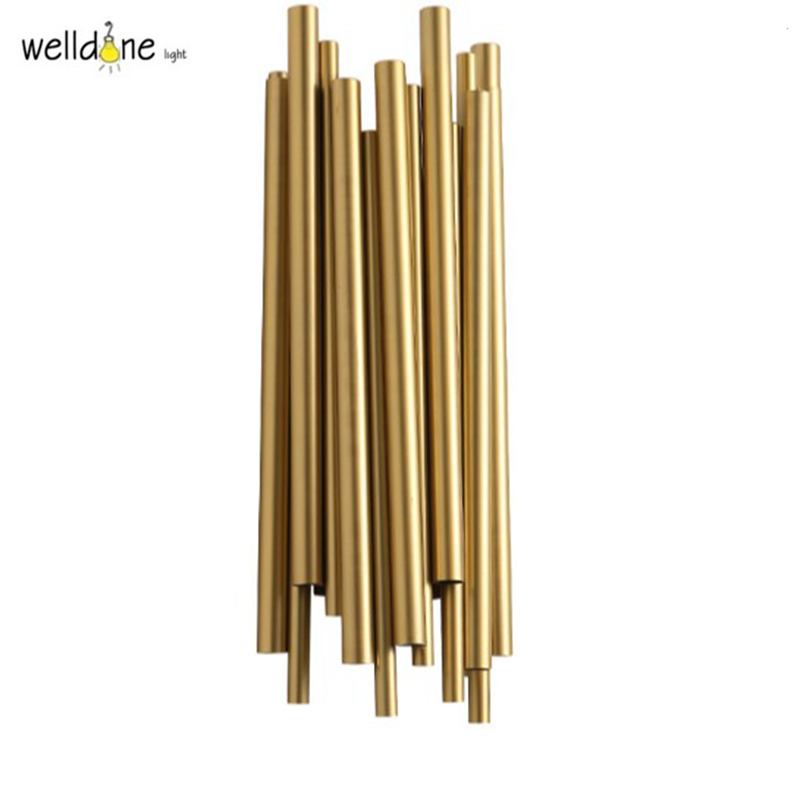 Modern gold dramatic pipe organ brubeck wall lamp for hotel room bedroom aluminum plated word 2010 elearning kit for dummies
