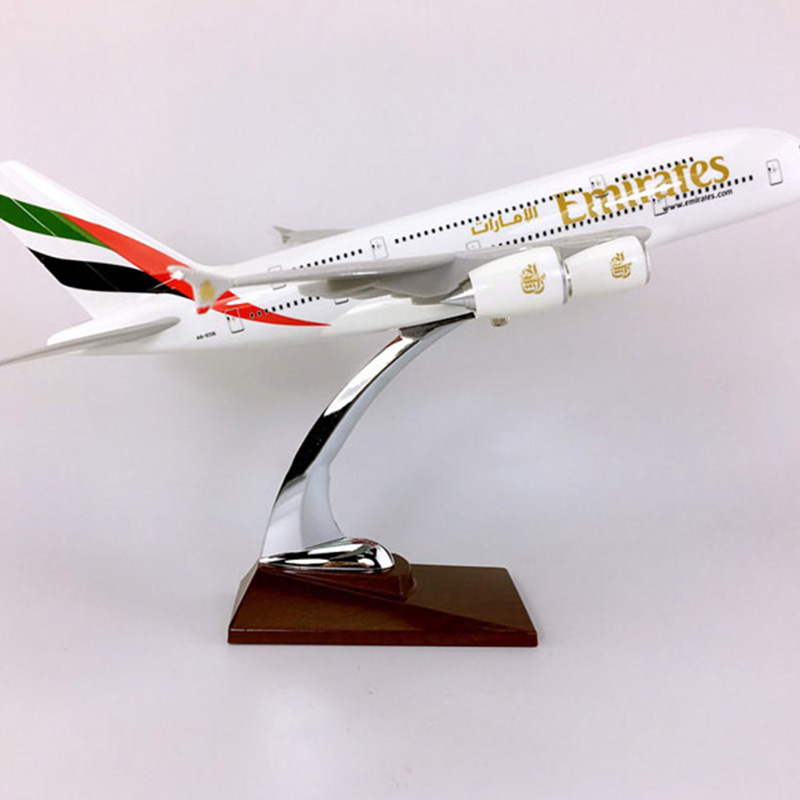 36CM <font><b>1</b></font>:<font><b>200</b></font> Airbus A380-800 <font><b>model</b></font> United Arab Emirates airline w base alloy aircraft plane collectible display toy collections image