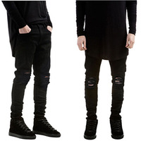 Men And Women New 2015 High Quality Famous Brand Casual Men Ripped Robin Straight Jeans Men