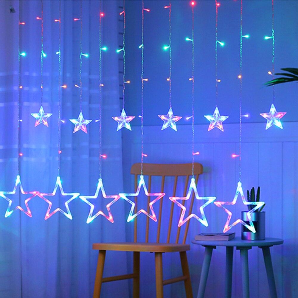 3 mt LED Weihnachten Baum Dekoration Stern String 220 v 8 Modi Multicolor Startseite Freien Garten Party Terrasse Pathway Beleuchtung decor