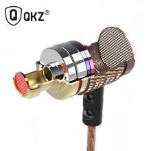 QKZ DM6 Entusiasta de bass En La Oreja Los Auriculares Auriculares De Cobre Forjado 7 MM Anti-ruido Del Micrófono de Sonido Impactante Calidad fone de ouvido