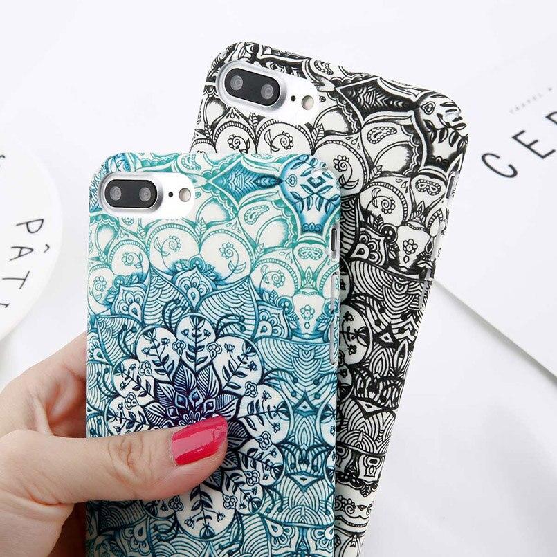 Luminous Mandala Print Case for iPhone 3