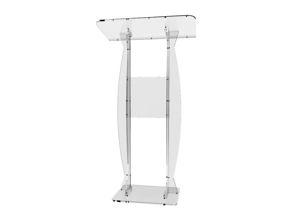Furniture ... Commercial Furniture ... 32682576270 ... 2 ... Fixture Displays Fixture Displays Podium Clear Ghost Acrylic Lectern or Pulpit  Easy Assembly Required ...