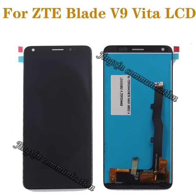 5.45 אינץ מקורי לzte V9 Vita LCD תצוגה + מגע מסך דיגיטלי ממיר רכיב מסך תיקון חלקי משלוח חינם