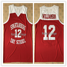 12 Zion Willamson Spartanburg Griffins day school retro Throwback Men s  Basketball Jersey Stitched Customize any Number 41bce7f83