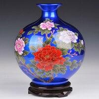 Antique Jingdezhen Chinese Flower Vase For Wedding Decoration Ceramic Vase Vintage Chinese Crystal Glaze Vase For Hotel