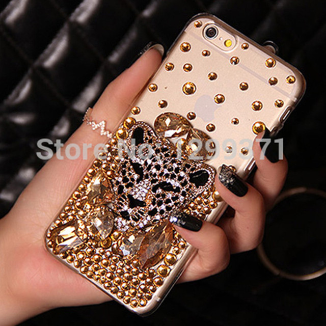 the best attitude 3b813 7b70a US $7.27 9% OFF|Gold Fox Leopard Bling Diamond Case Cover For Iphone XS Max  XR X 8 7 6 Plus 5S Samsung Galaxy Note 9 8 5 4 3 S9/8/7/6 Edge Plus-in ...