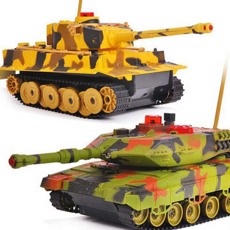 Remote Control Tank Infrared Electric Tank Off-road RC Tank With Cannon Emmagee Music LED Rechargeable Military Model For Boys hanes little boys tank