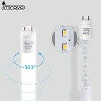 IMINOVO 10Pcs LED T8 Tube Light Lamp 600MM 10W Milky Cover SMD 2835 AC 110V 220V Warm Cool White Light Bulb Garage living room