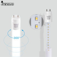 IMINOVO 10Pcs LED T8 Tube Light Lamp 600MM 10W Milky Cover SMD 2835 AC 110V 220V Warm Cool White Light Bulb Garage living room