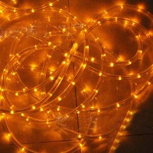 Image 5 - עמיד למים קשת צינור חבל led רצועת חג המולד אור בחוץ חג קישוט אורות 2M 20M AC220V IP65 led rgb הרצועה
