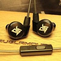 100 Original AUGLAMOUR R1S High Quality 3 5mm Metal In Ear Earphones Ear Hook HIFI Earphone