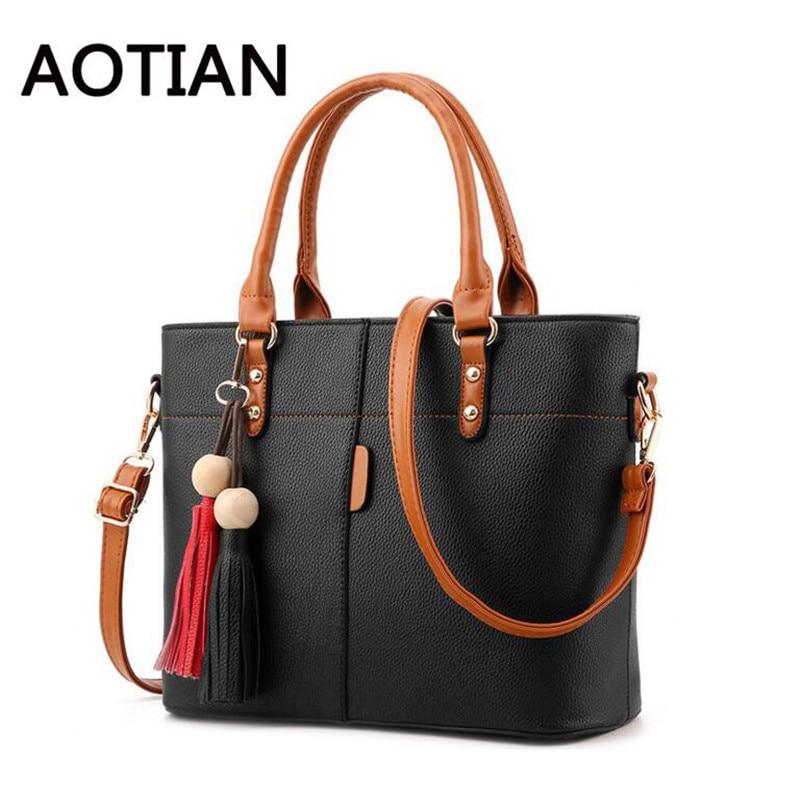 2017 Fashion Handbag Bag For Women Large Capacity Ladies Messenger Bags Tassel PU Leather Shoulder Bags bolsa feminina