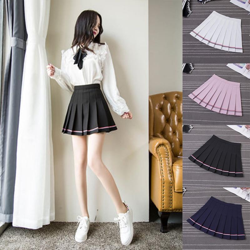 College Pleat Skirt Harajuku Preppy Style Plaid Skirts -5329