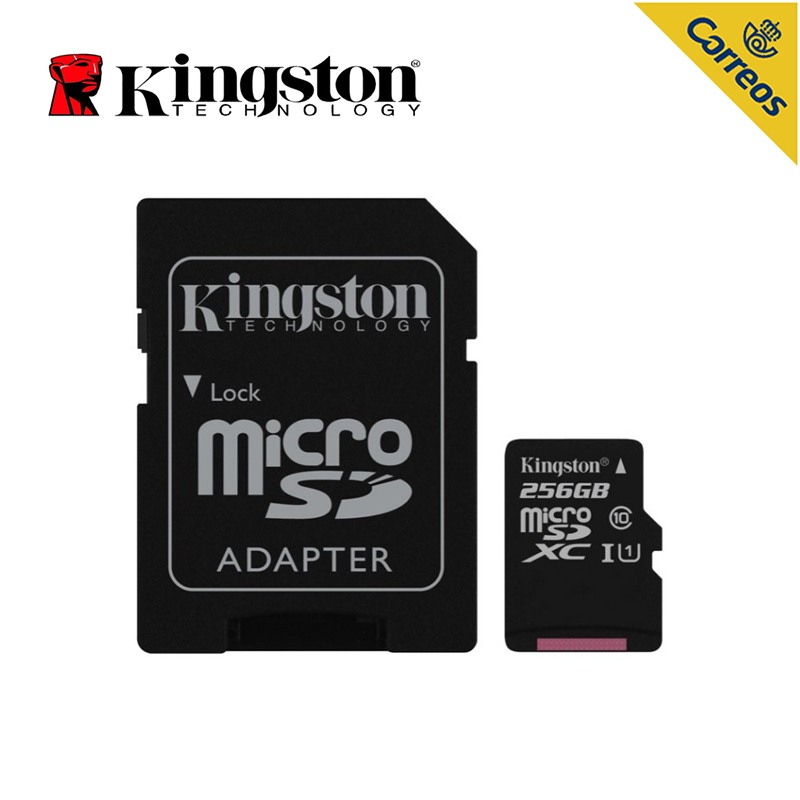 Kingston Top quality Memory card class 10 256GB MicroSDXC Micro sd card Cartao De Memoia 80 MB/s Black for Phone/Tablet/PC