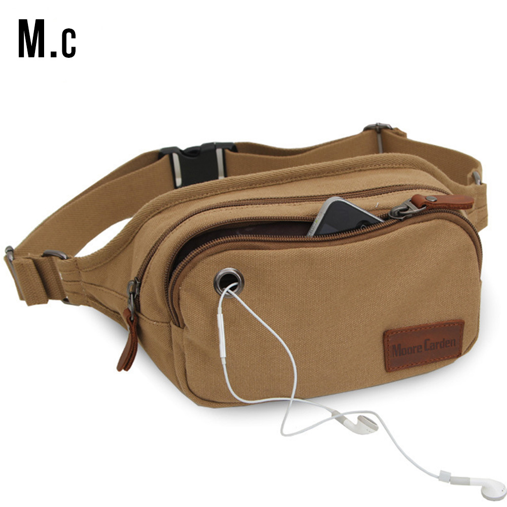 Fashion Canvas Waist Pack Men S Casual Belt Cash Bag Soft Waistbag Storage Small Pouch Mobile Moto Vintage Male Bags Hqb2010 In Packs From Luggage