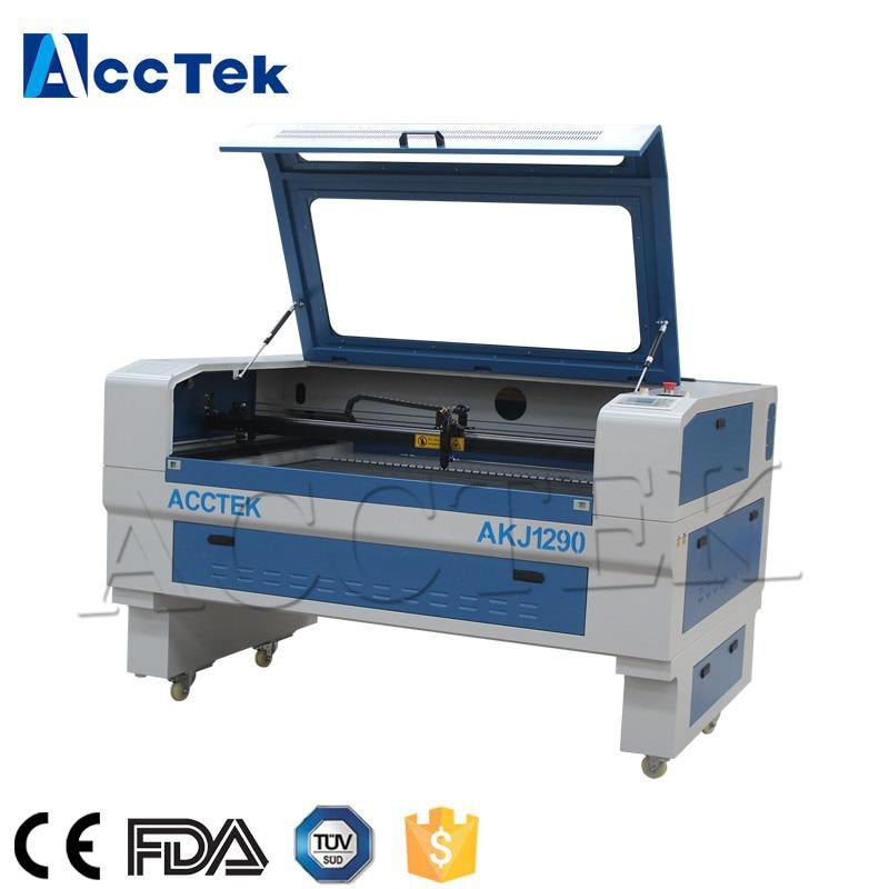 Refroidissement par eau Jinan fournisseur co2 laser gravure et découpe machine 1290 denim jeans laser gravure machine