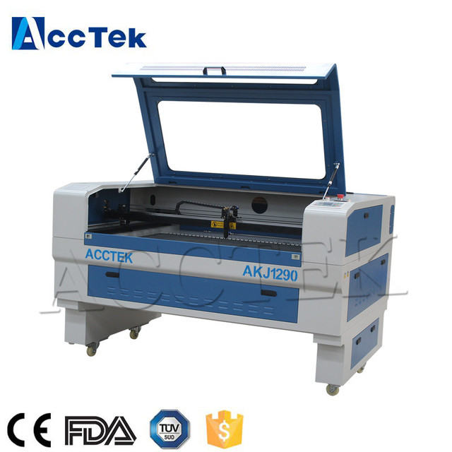 Water cooling Jinan supplier co2 laser engraving and cutting machine 1290 denim jeans laser engraving machine