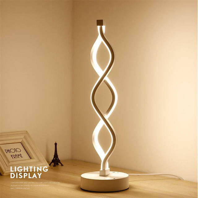 Nordic Creative Table Lamps Art Deco Led Desk Lamp Minimalism Modern  Bedside Lamp Acrylic Table Lamps