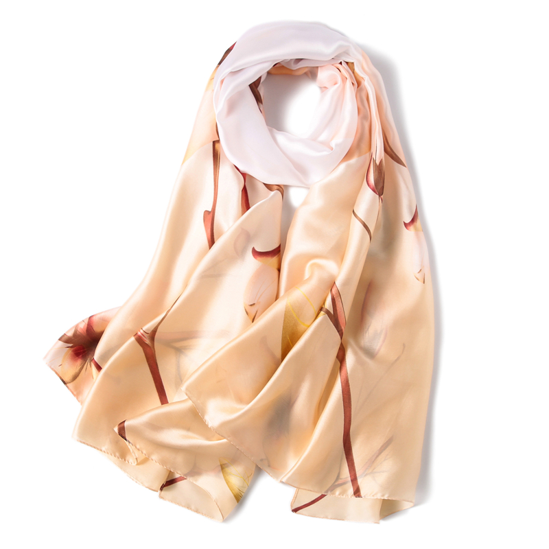 2019 winter scarf fashion print silk scarves lady pashmina sunscreen decorate hijabs shawls female wraps in Women 39 s Scarves from Apparel Accessories