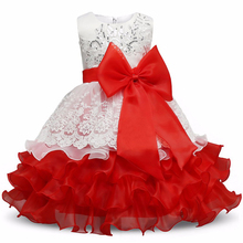 лучшая цена Baby Girl Elegant Flower Girls Wedding Dresses Girls Kids Princess Party Dresses 2018 Summer Children Clothing 3 4 5 6 7 Year