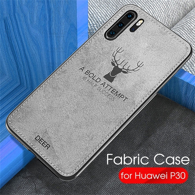 Fabric Cloth Case For Huawei P 30 Pro Case Soft Silicone Back Cover For Huawei P30 P20 Mate 20 Pro Lite Light Phone Case P30Pro