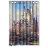 Best Selling Creative Design Print Beautiful Castle Scenery Shower Curtains For Bathroom Mildewproof PEVA 48 X