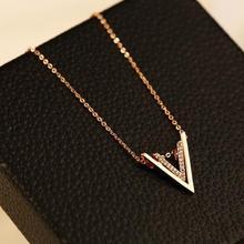 N120 Письмо V известный роскошный бренд дизайнерское модное ювелирное ожерелье с подвеской Новинка Короткое женское украшение