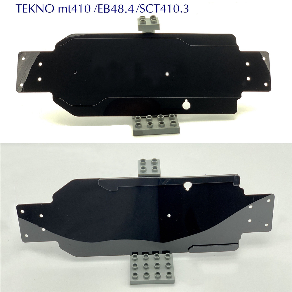 Nylon Chassis Guard Chassis Armor For TEKNO MT410 EB48.4 SCT410.3 RC Car Chassis Weave Protection Plate RC Car Parts