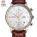 TSS café concha de Oro superficie Relojes Hombre 2016 Mens Relojes de Primeras Marcas de Lujo de Cuarzo resistente al agua-Reloj de Los Hombres Reloj De Pulsera