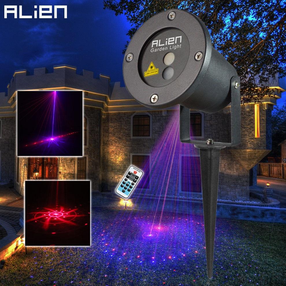 Alien Remote 8 Patterns Red Blue Outdoor Laser Lights Rb