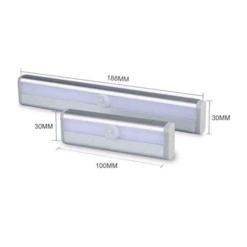 Датчик движения светодиодный ночник беспроводной светодиодный светильник для шкафа AAA аккумуляторная Настольная лампа шкаф книжный аварийный Туалет ночник