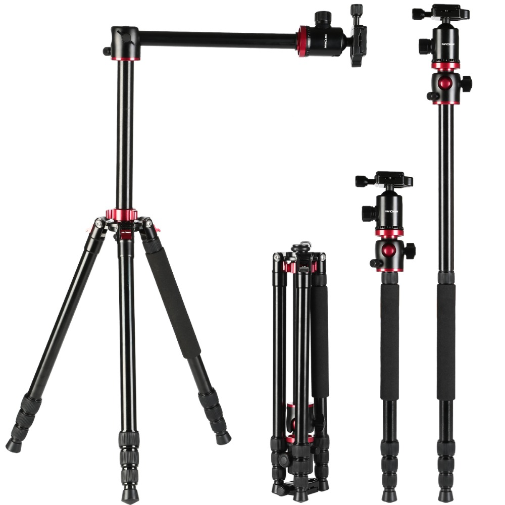 K&F CONCEPT Professional 4 section Alloy Tripod For Camera Portable Monopod Tripod For Digital/Video Canon Nikon Sony Camera dhl free 2017 new professional tripod qzsd q999 aluminium alloy camera video tripod monopod for canon nikon sony dslr cameras