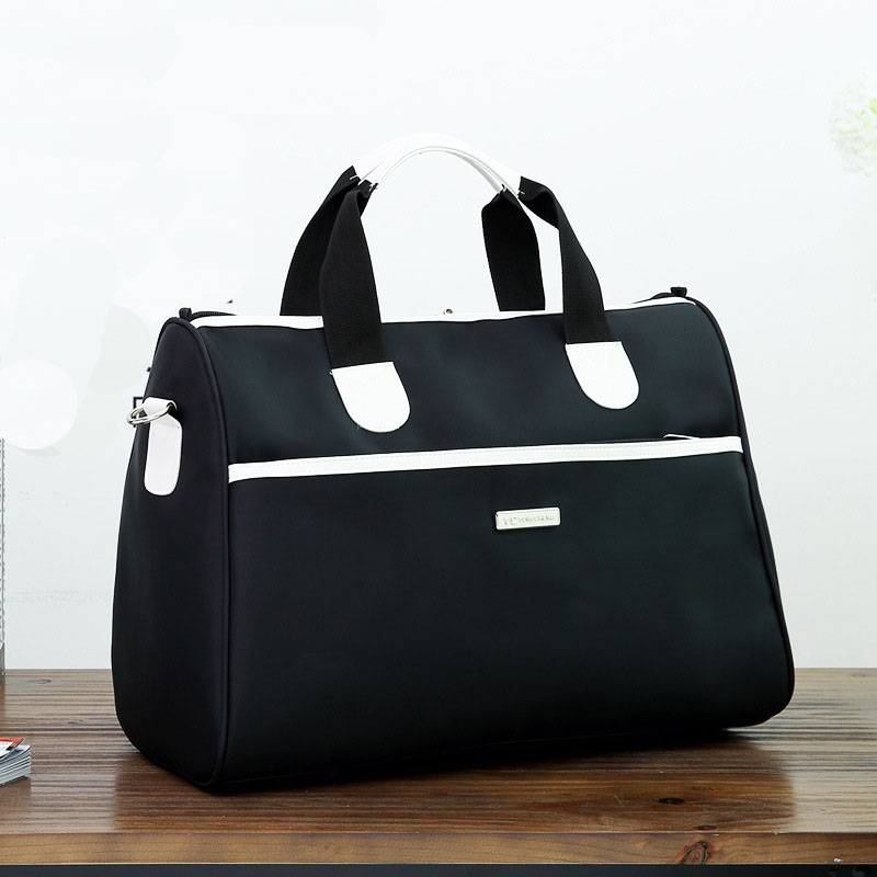 Men Travel Bags Black Blue Men Tote Shoulder Travel Bag Portable Men Handbags Nylon Weekend Bag Women Waterproof Duffle Bag LX59