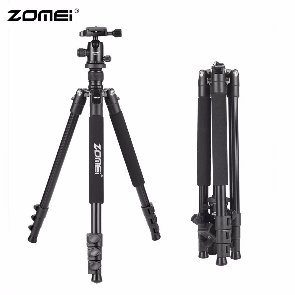 Zomei Q555 63-inch Professional Portable Travel Aluminum Camera Tripod with 360 Degree Ball Head for Digital SLR DSLR Cameras