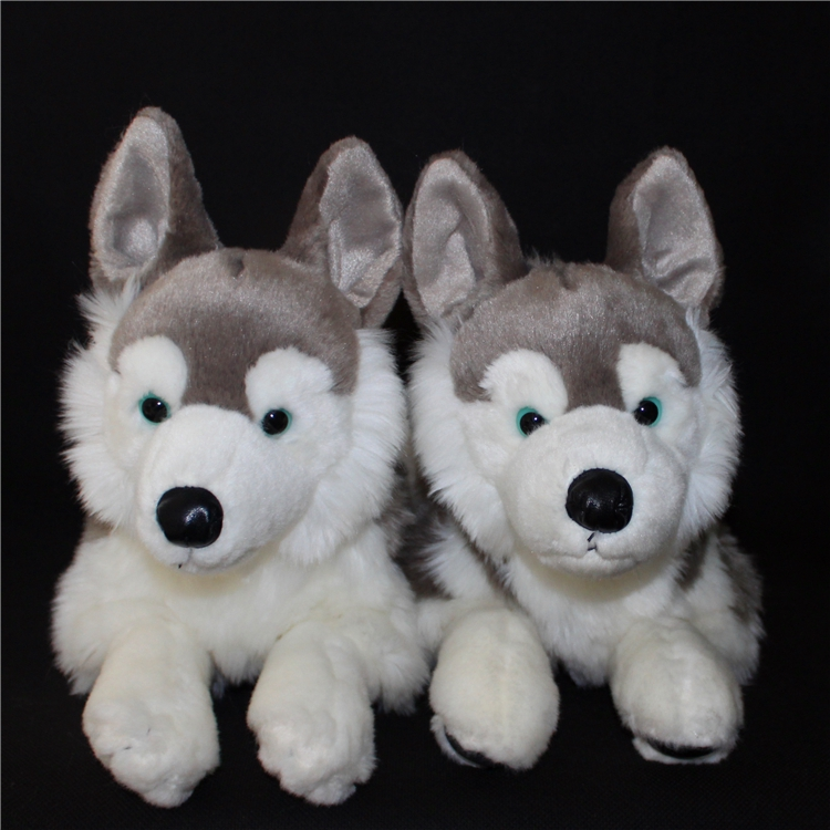 Stuffed Big Toy Animals Husky Dog  Plush children's Toys  Simulation Huskies Pillow stripes sweater design prone husky largest 165cm gray husky dog plush toy sleeping pillow surprised christmas gift h907