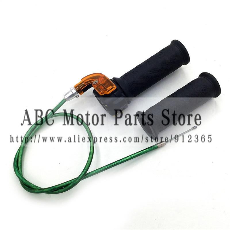 Pair Throttle Accelerator Grip Twist Cable For Pocket bike/4-stroke dirt bike/mini bike 50cc 90cc 110cc 125cc 140cc