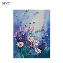 Decor gift Handmade Modern Abstract Oil Painting On Canvas Simple beautiful flowers handpainted For Room Decor Wall Art Picture