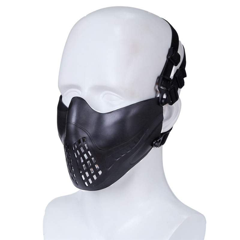 1 Pcs Headband System Outdoor Tactical Breathe Freely Pilot Mask Military Protective Face Mask For Hunting Shooting Paintball