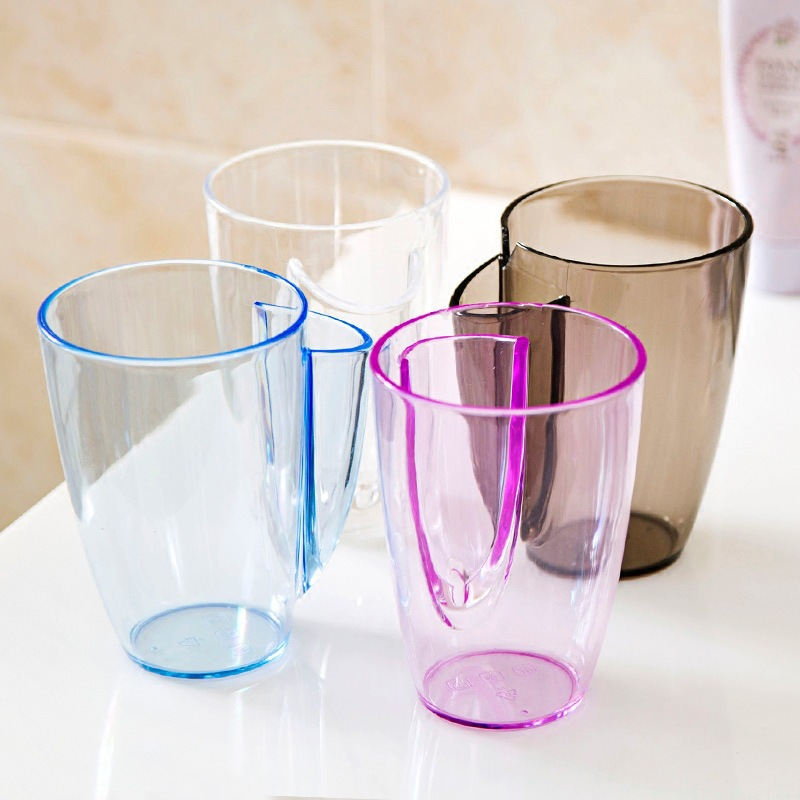 1Pcs Creative Novelty Transparent Coffee Milk plastic Mugs Tea Cup Nice Christmas Gifts Simple fashion toothbrush wash Rinse cup