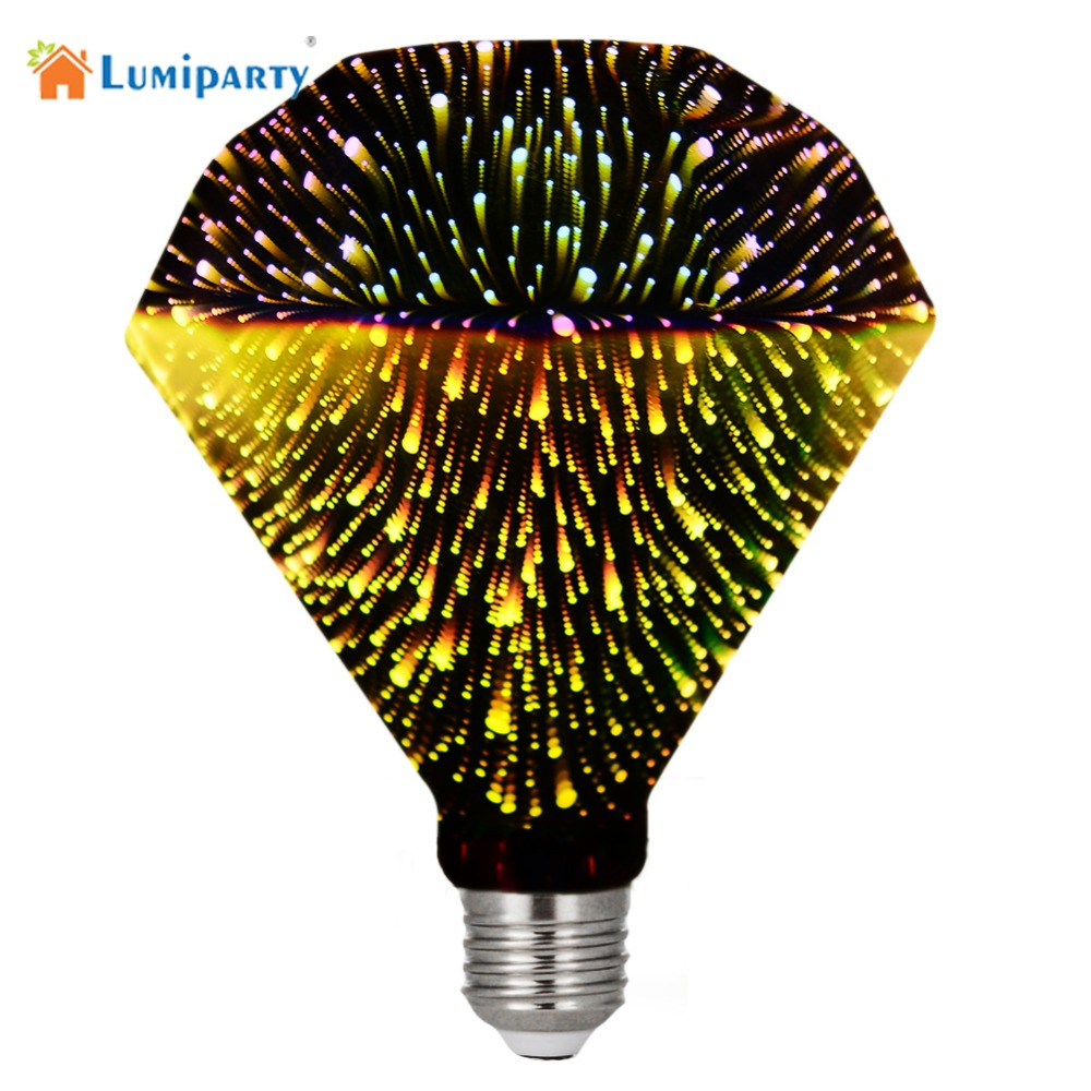 Lumiparty  5W G95 E27  85V-265V LED 3D Decoration Light Bulbs Novelty RGB Lamp Filament Fireworks Ball Light for Home Holiday