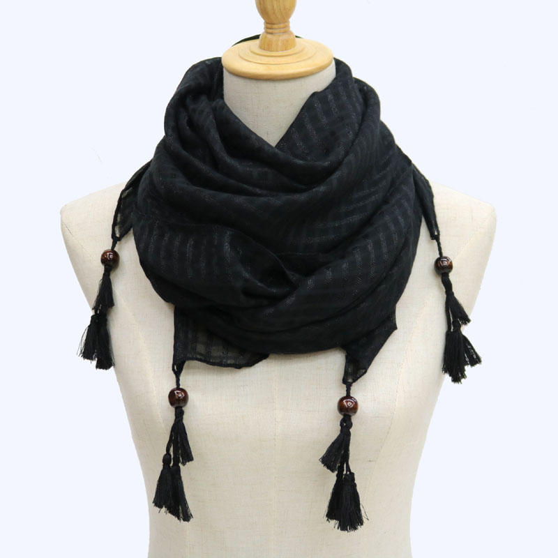 1d2ec844445b Longue écharpe polyester perles femmes wrap hijab cape femelle foulards  snood d hiver snood châle sciarpa étoles foulards pour dames l islam dans  Foulards ...