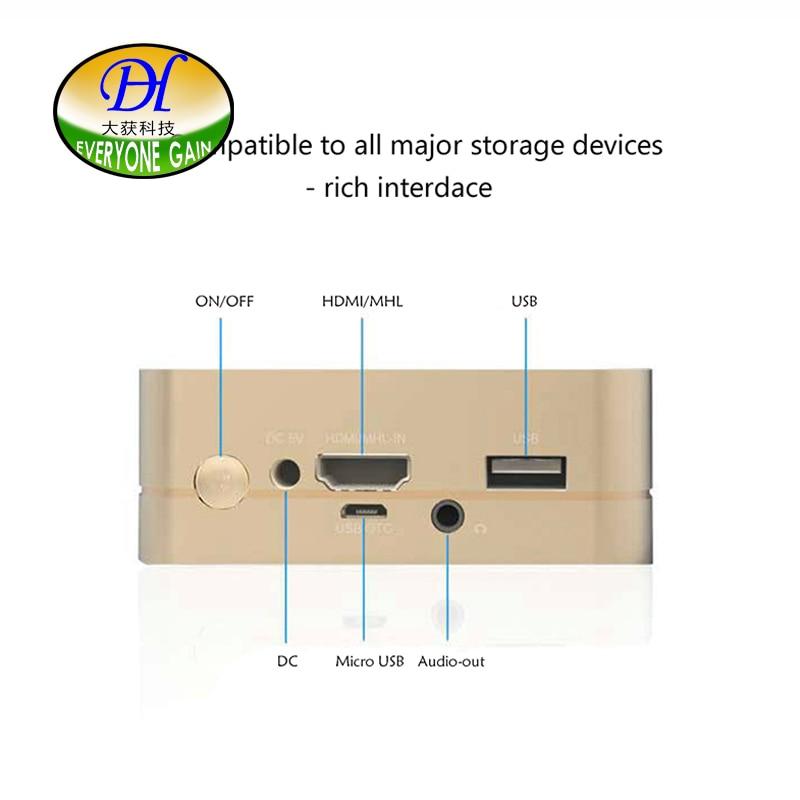 Android DLP LED Proyector Portátil Con Wifi Soporte HDMI 1080 P Bluetooth Baterí