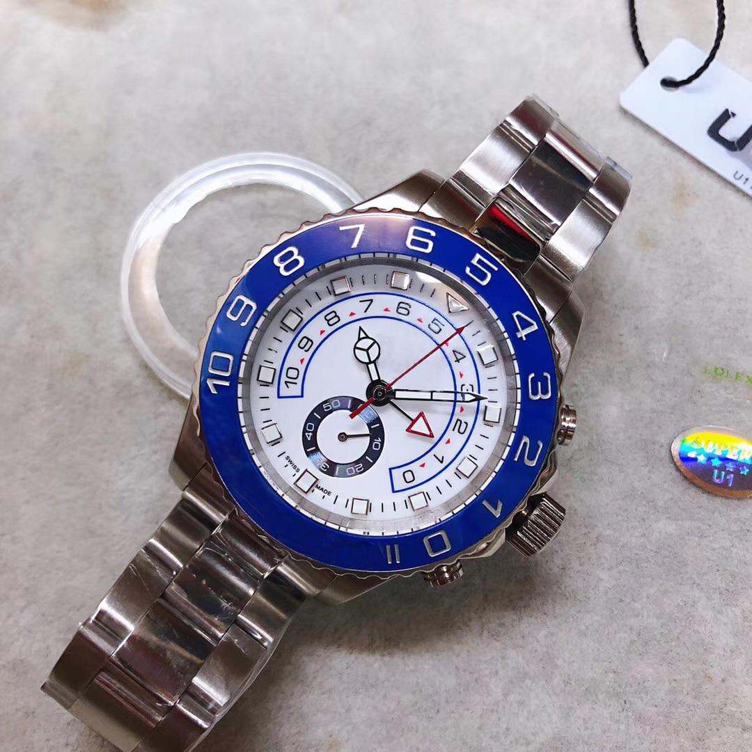 Luxury men's watch 2813 automatic movement yacht series 44 mm waterproof ceramic two way rotating bezel sapphire AAA wristwatch