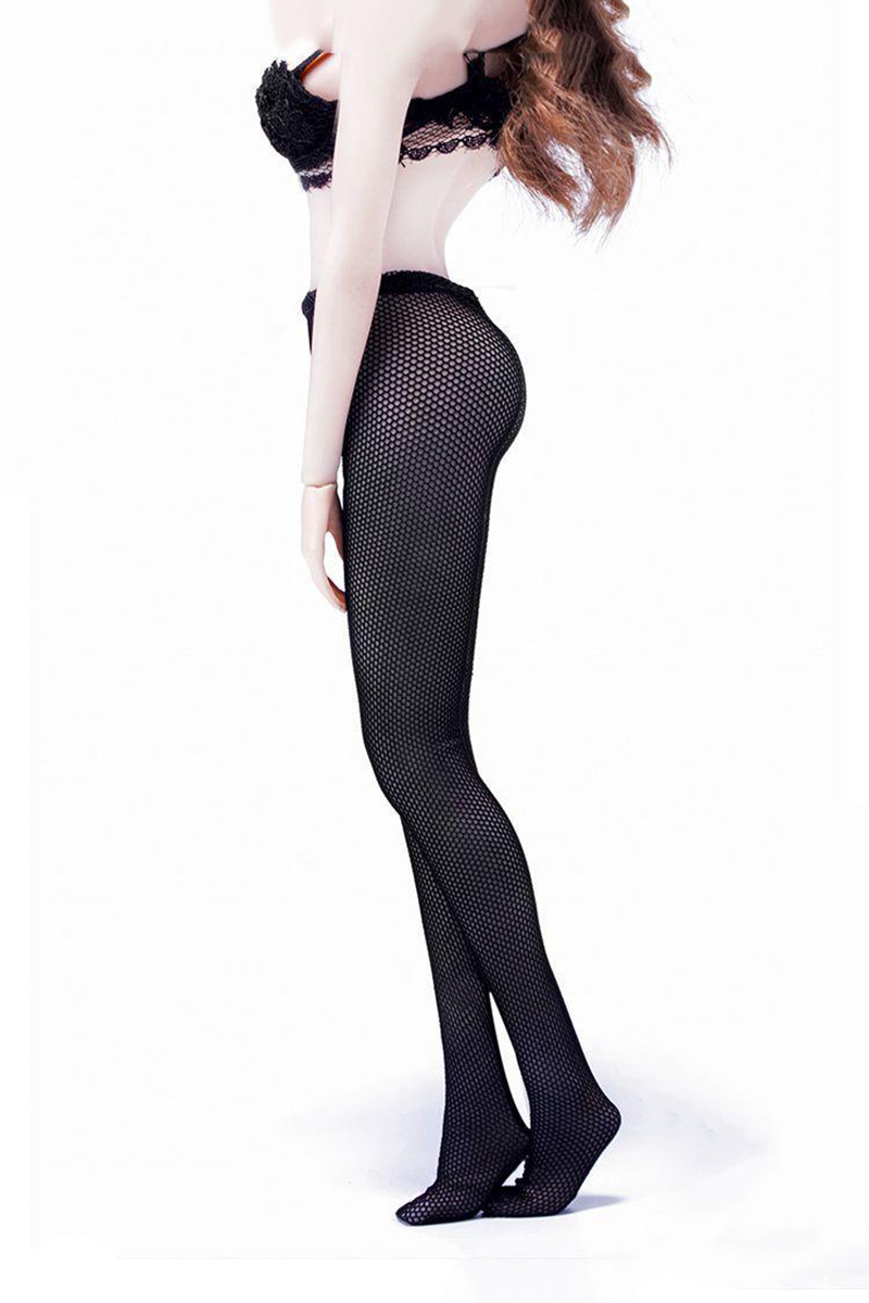 Black White Nude 1/6 Mesh Stockings Model for 12''Figures image