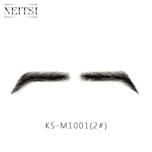 Image 2 - Neitsi For Man 100% Human Hair Remy Hair Invisible Handmade Fake Eyebrows Hand Tied False Eyebrows M1001