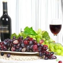 18CM Artificial Fruit Grapes Plastic Fake Decorative Fruit Lifelike Home Wedding Party Garden Decoration