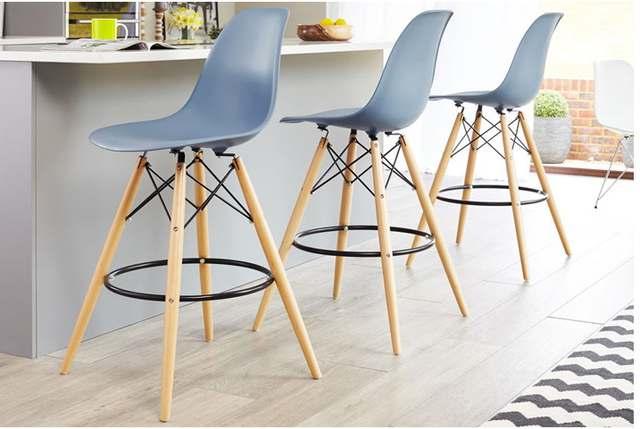 US $179.0 |MODERN DESIGN loft BAR STOOL PLASTIC kitchen room COUNTER stool  WOODEN bar chair lOFT CAFE HIGH STOOL Seat Height 65cm 1 PC-in Bar Chairs  ...