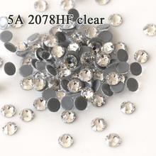 Charms 5A 2088HF Hot Fix Clear New Facted 8 Big Small Flatback Multi Size Crystal Glass Strass Iron On CZ Rhinestone