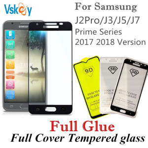 Hot Sale Vskey 10pcs Full Glue Tempered Glass For Samsung Galaxy J2